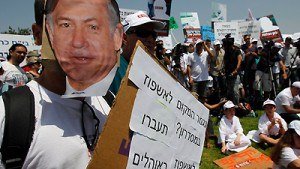Großdemonstrationen in Israel