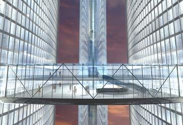 Wandeln in luftiger Höhe: Entwurf des Architekten Tschoban