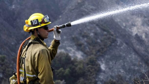 Feuerwehrleute kämpfen gegen Waldbrand
