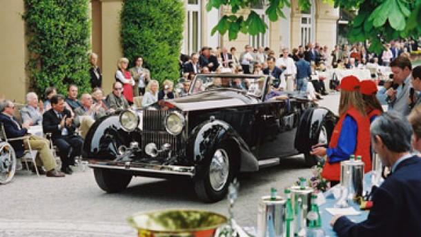Der Concours d'Elegance soll auch dem Neuwagen-Geschäft dienen