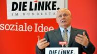 Verzichtet auf die Kandidatur im Wahlkreis Saarbrücken: Oskar Lafontaine