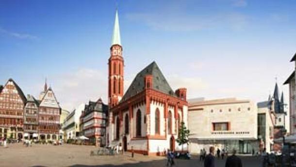 Betonfront am Historischen Museum soll Naturstein weichen