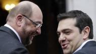 Schulz sieht große Diskussionsbereitschaft in Athen