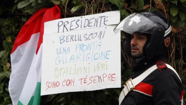Solidarität mit Berlusconi
