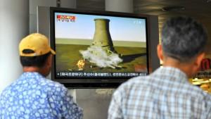 Nordkorea sprengt Reaktor-Kühlturm