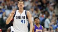 Dirk Nowitzki erzielt seinen 30.000. Punkt in der NBA