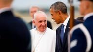 Papst Franziskus erreicht Amerika