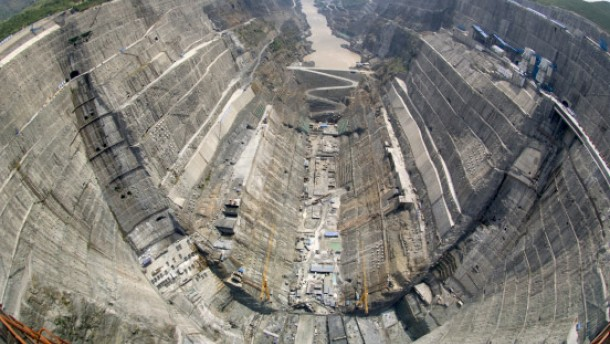 China setzt auf riesige Wasserkraftwerke