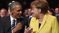 Obama und Merkel pochen auf TTIP noch 2016