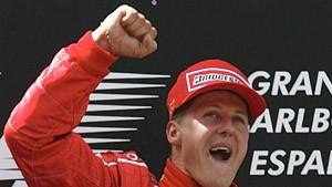 Ferraris Neuwagen mit Schumacher auf Anhieb Spitze