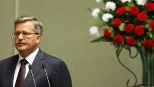 Komorowski als Präsident vereidigt