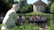 Bild aus besseren, wasserreicheren Tagen: im Wörlitzer Garten