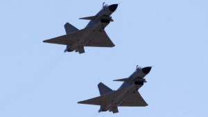 File photo of Jian-10 fighter jets of China Air Force at Yangcun Air Force base on the outskirts of Tianjin municipality