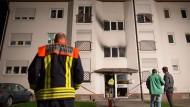 Ein Schwerverletzter bei Brand in Flüchtlingsunterkunft