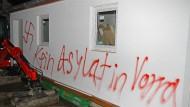 Geplante Flüchtlingshäuser in Bayern abgebrannt