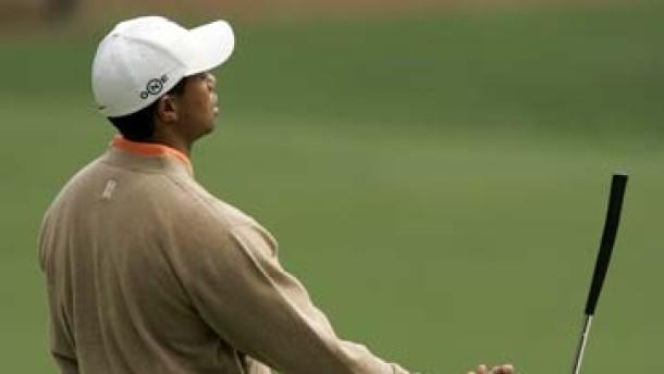 Auch Woods wirft mal eine gute Runde weg
