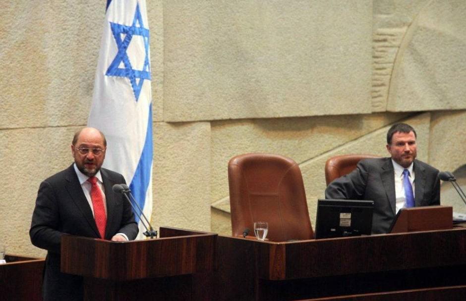 Martin Schulz im israelischen Parlament in Jerusalem