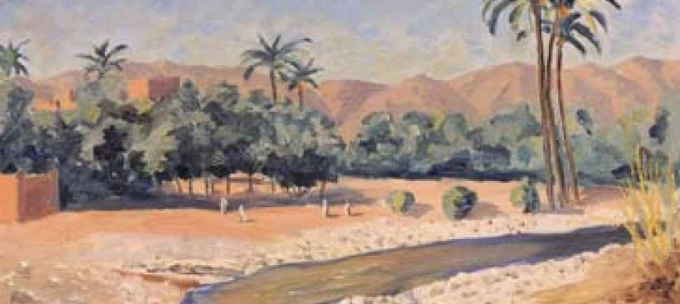 Churchill Gemälde Ein Sonntagsbild Aus Marokko Gesellschaft Faz