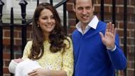 William und Kate präsentieren ihre Tochter