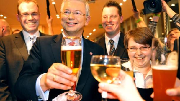 Die CDU ist auch mit dem Blechkater zufrieden