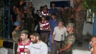 Mutmaßliche Putschisten in der Türkei verhaftet