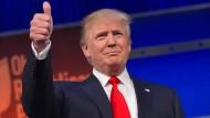 Will eine Grenzmauer zu Mexiko ziehen: Präsidentschaftskandidat Donald Trump.