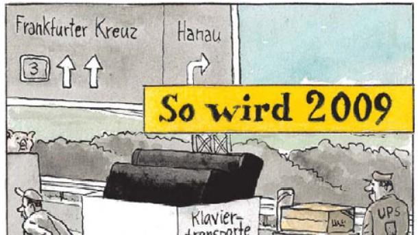Karikatur / Greser&Lenz / So wird 2009/1