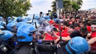Proteste nach G7-Gipfel in Taormina