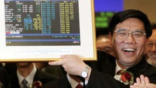 Chinas Aktien außer Rand und Band