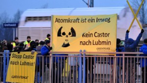 Castor-Transport erreicht Lubmin