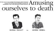 """Auszug aus """"Wir amüsieren uns zu Tode"""" von Neil Postman, ins Bild gesetzt von dem australischen Comiczeichner Stuart McMillen (www.recombinantrecords.net)."""