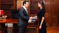 Angelina Jolie und Tsipras sprechen über Flüchtlingskrise