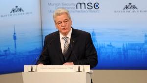 Gauck fordert neue deutsche Außenpolitik