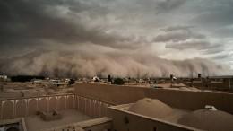 Heftiger Sandsturm in Iran