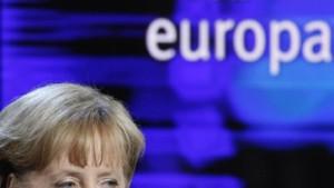 Merkel hofft auf eine breite Mehrheit