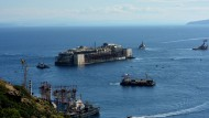 Costa Concordia auf dem Weg nach Genua