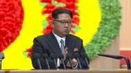 Kim Jong-un spricht auf Parteitag in Nordkorea