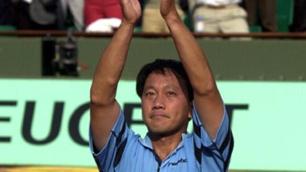 Michael Chang geht, wie er kam - mit Tränen