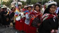 Boliviens Präsident mit Indio-Zeremonie gefeiert