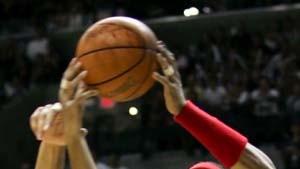 Echtes Endspiel im amerikanischen Basketball