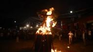 In Guatemala verbrennen sie den Teufel