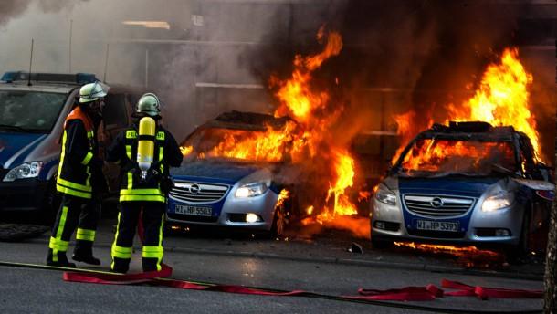 Hessische Politiker entsetzt über Gewalt bei Blockupy