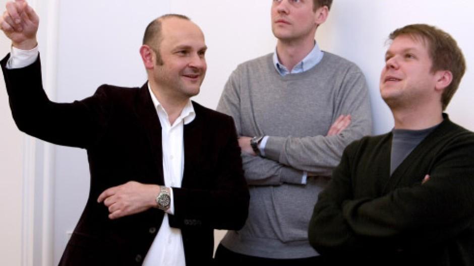 Magazin-Macher: Markus Peichl, Jörg Koch und Benjamin Ruth (von links)
