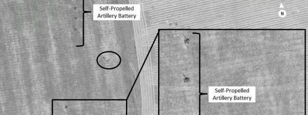 Satellitenaufnahmen wie diese belegen nach Nato-Angaben den russischen Einmarsch