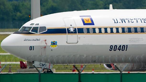 Beschlagnahmtes Flugzeug _newdes thailändischen Kronprinzen