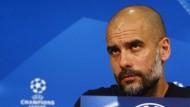 Pep Guardiola wehrt sich gegen Favoritenrolle