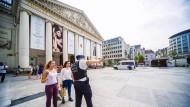 Polizei riegelt Platz in Brüssel ab