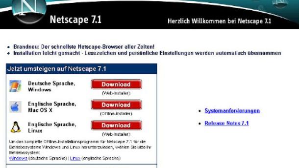 Die Ikone Netscape ist am Ende
