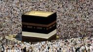 Fast 1,5 Millionen muslimische Pilger in Mekka