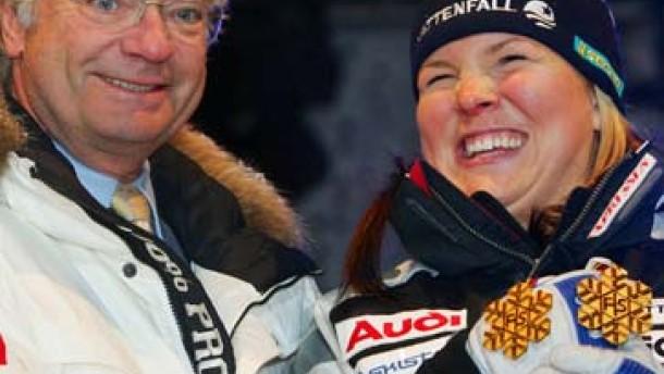 Anja Pärson erschrickt vor der eigenen Größe